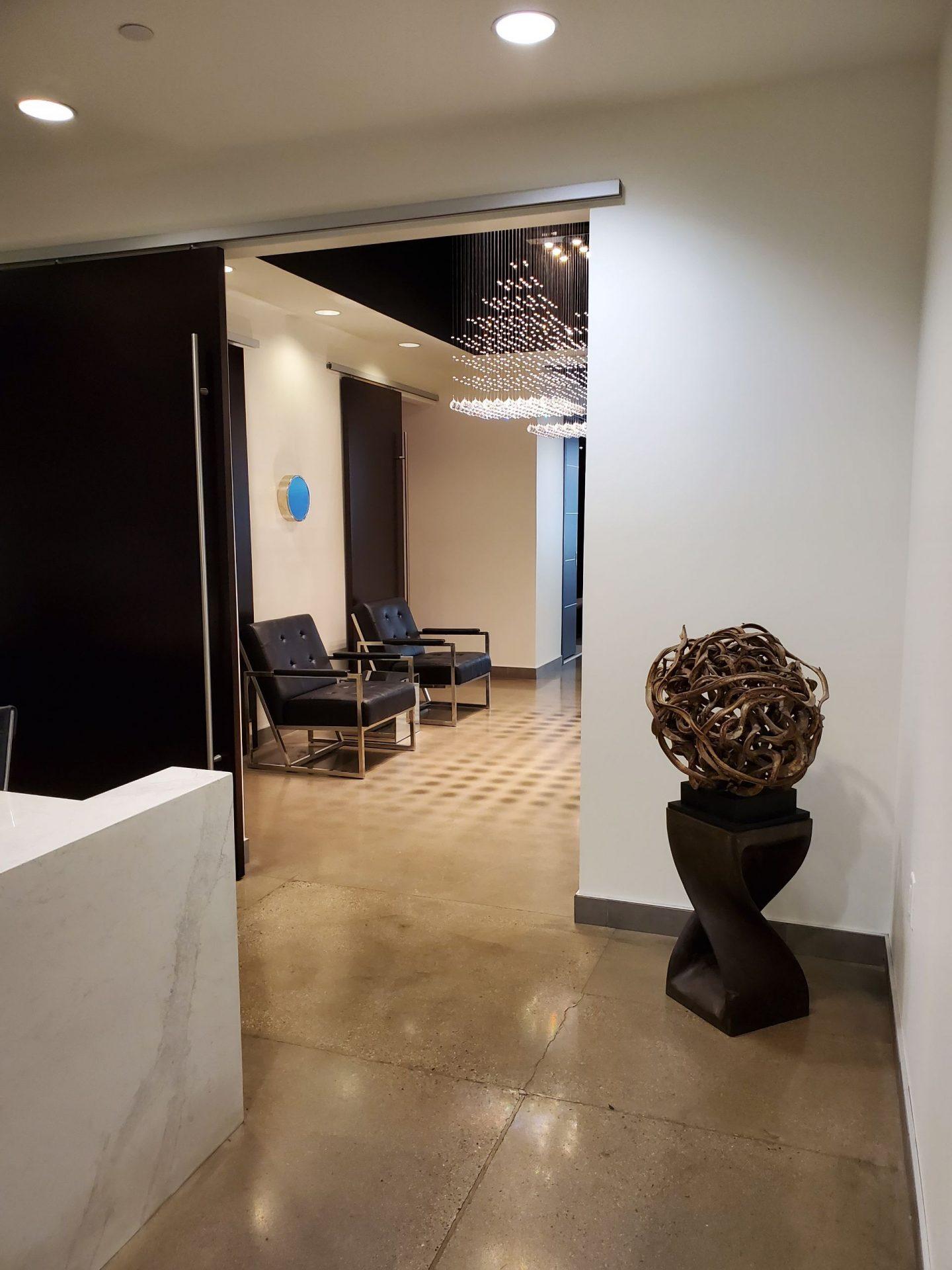 Robotic hair restoration office
